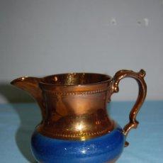 Antigüedades: JARRA REFLEJOS EN PORCELANA BRISTOL DE 14 CM ALTURA. Lote 57230718