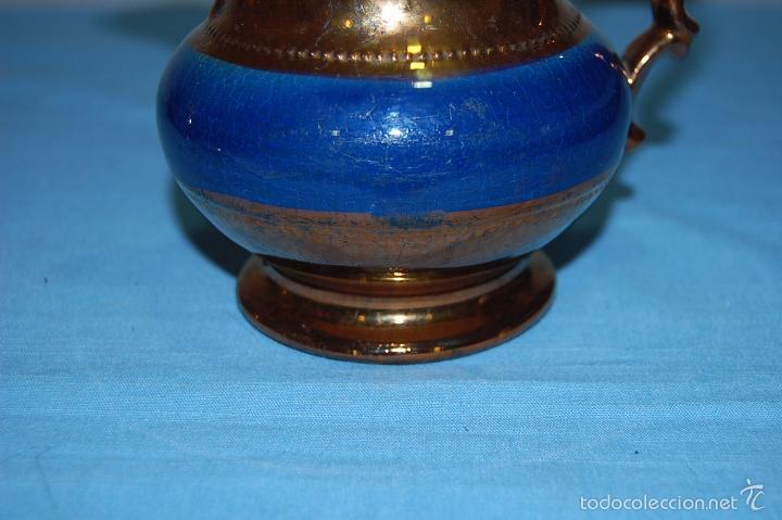 Antigüedades: JARRA REFLEJOS EN PORCELANA BRISTOL DE 14 CM ALTURA - Foto 3 - 57230718
