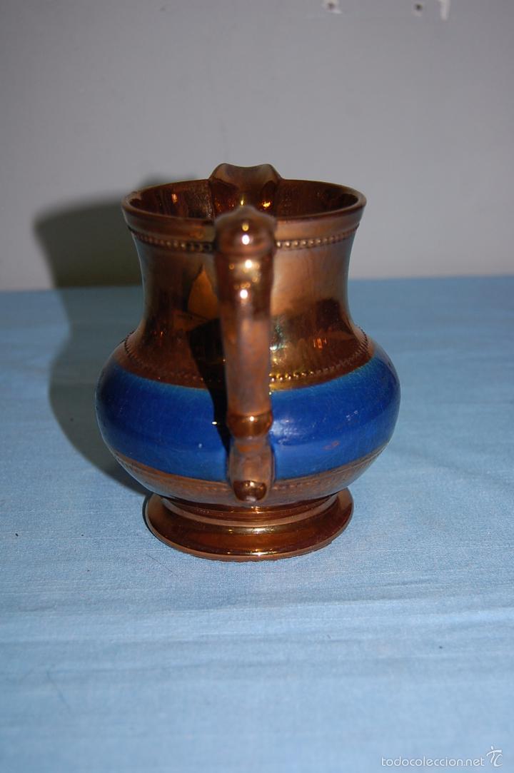 Antigüedades: JARRA REFLEJOS EN PORCELANA BRISTOL DE 14 CM ALTURA - Foto 5 - 57230718