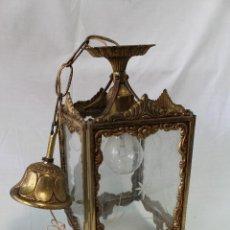Antigüedades: LAMPARA DE TECHO EN BRONCE. Lote 57243502