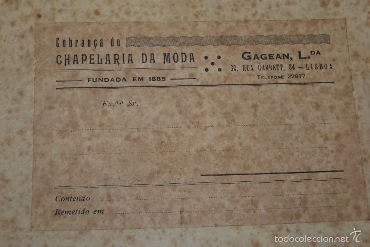 Antigüedades: CASCO DE EQUITACIÓN EN SOMBRERERA ORIGINAL - SOMBRERO HÍPICA - GAGEAN - CHAPELARIA DA MODA - LISBOA - Foto 2 - 57252900