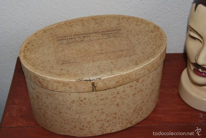 Antigüedades: CASCO DE EQUITACIÓN EN SOMBRERERA ORIGINAL - SOMBRERO HÍPICA - GAGEAN - CHAPELARIA DA MODA - LISBOA - Foto 13 - 57252900