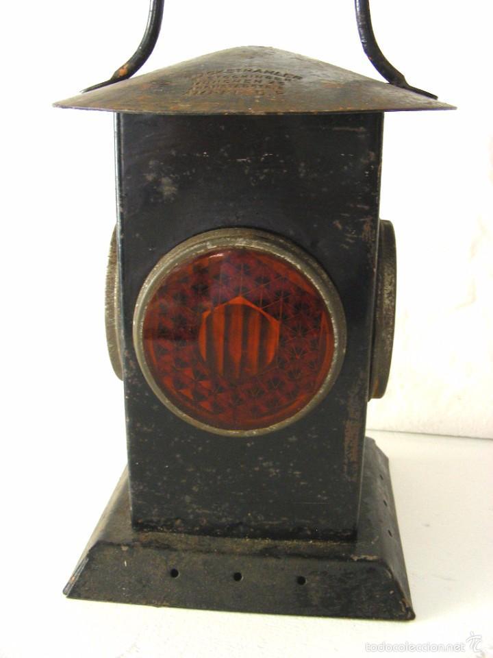 Antigüedades: Farol ferroviario, años 40 - Foto 2 - 57263867