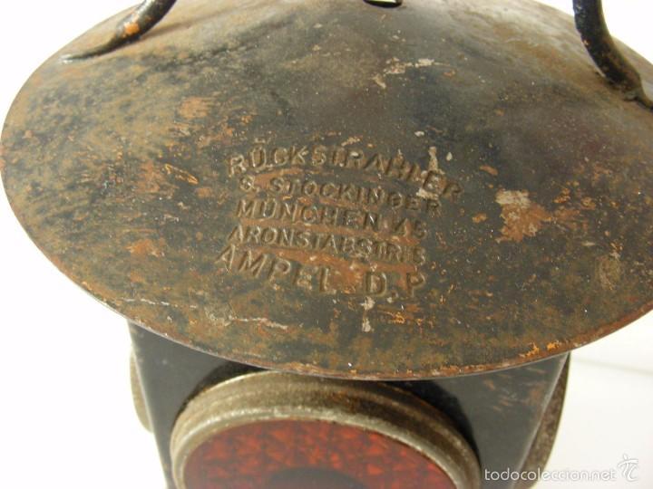 Antigüedades: Farol ferroviario, años 40 - Foto 3 - 57263867