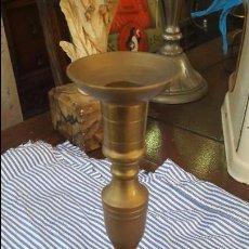 Antigüedades: CANDELABRO DE BRONCE. Lote 57208342