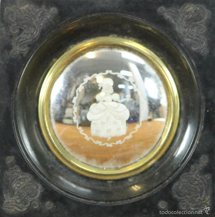 cristal grabado al mercurio. marco en resina. p - Comprar Cristal y ...