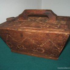 Antigüedades: ANTIGUA CAJA DE MADERA, MEDIDA?. Lote 57276403