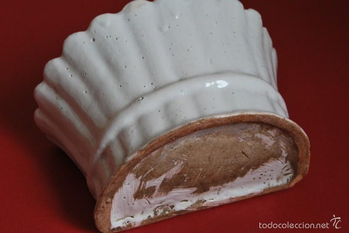 Antigüedades: SOPORTE DE CERÁMICA PARA FLORES - PARA POSAR O COLGAR - CENTRO - FLORERO - PP. S.XX - Foto 5 - 57292614
