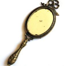 Antigüedades: ESPEJO DE MANO DE BRONCE. Lote 57293873