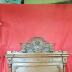 Antigüedades: CAMA ALFONSINA EN NOGAL PARA RESTAURAR.. Lote 27503113