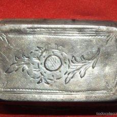 Antigüedades: CAJA DE PLATA ORFEBRE MATEO MARTINEZ MORENO ARTE ANDALUZ AÑO 1793. Lote 57296159