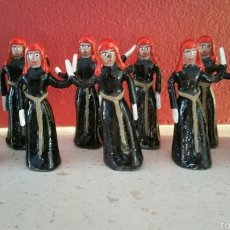 Antigüedades: LOTE FIGURAS PLOMO ANTIGUAS PENITENTES NAZARENOS SEMANA SANTA 11 FIGURAS. Lote 57298985