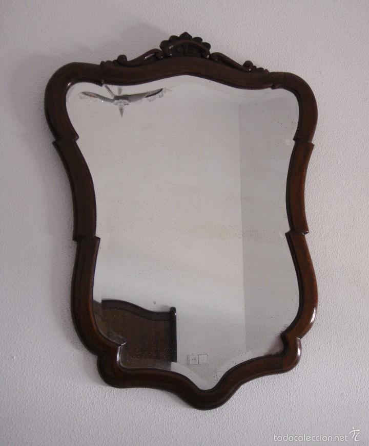 Antigüedades: Espejo de Caoba. - Foto 2 - 57301278
