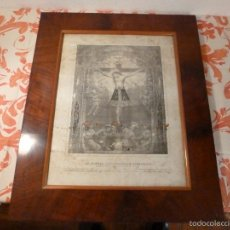 Antigüedades: MARCO DE CAOBA CON LAMINA RELIGIOSA. Lote 57301675