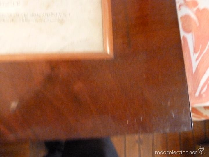 Antigüedades: MARCO DE CAOBA CON LAMINA RELIGIOSA - Foto 5 - 57301675