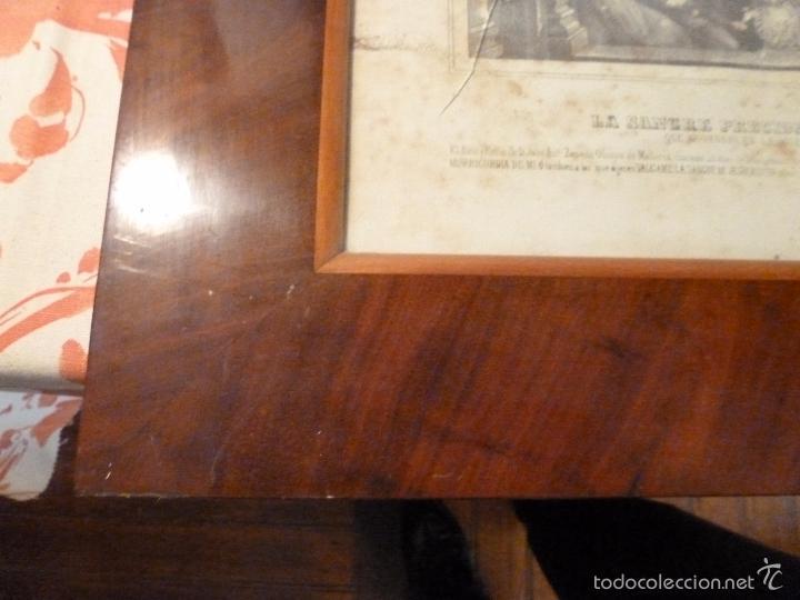 Antigüedades: MARCO DE CAOBA CON LAMINA RELIGIOSA - Foto 7 - 57301675