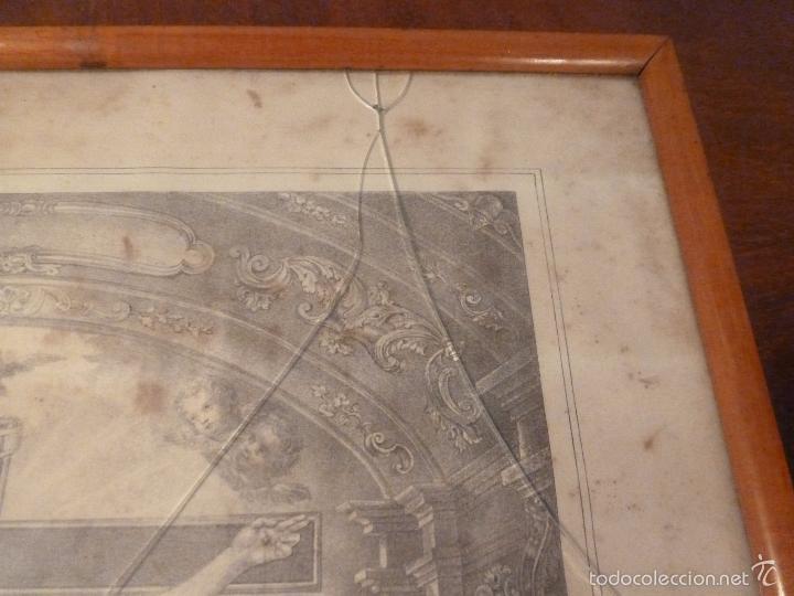 Antigüedades: MARCO DE CAOBA CON LAMINA RELIGIOSA - Foto 8 - 57301675