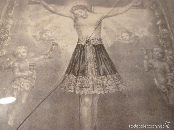 Antigüedades: MARCO DE CAOBA CON LAMINA RELIGIOSA - Foto 9 - 57301675