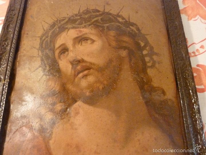 Antigüedades: LAMINA RELIGIOSA DE CRISTO - Foto 4 - 57301707