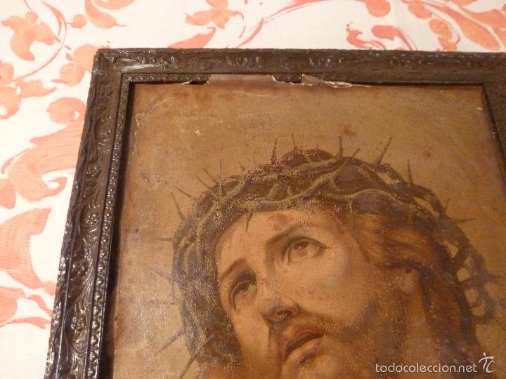 Antigüedades: LAMINA RELIGIOSA DE CRISTO - Foto 5 - 57301707