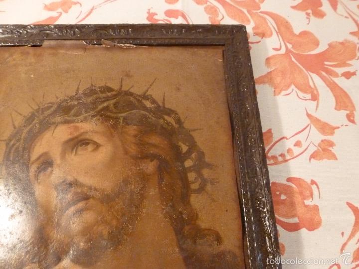 Antigüedades: LAMINA RELIGIOSA DE CRISTO - Foto 6 - 57301707