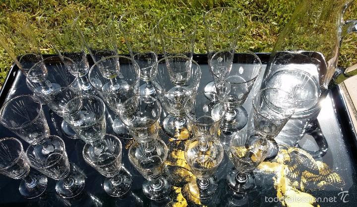 Antigüedades: cristaleria cristal tallado santa lucía cartagena modernista - Foto 8 - 57301805