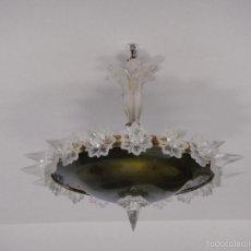 Antigüedades: LAMPARA DE TECHO. CRISTAL TALLADO.. Lote 57302313