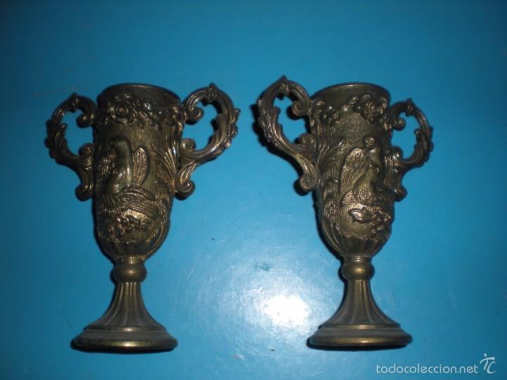 PAREJA DE COPAS 13X15X5CM (Antigüedades - Hogar y Decoración - Copas Antiguas)