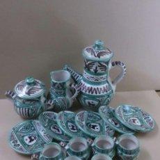 Antigüedades: JUEGO DE CAFE DE TERUEL, CERAMISTA PUNTER. Lote 57309661