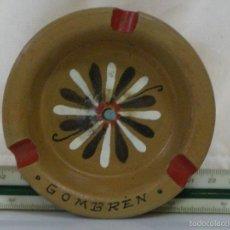 Antigüedades: CENICERO DE CERÁMICA *** RECUERDO DE GOMBRÉN (GERONA) ***. Lote 57311325