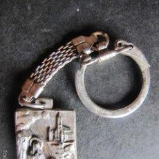 Antigüedades: LLAVERO RELIGIOSO VIRGEN DE LOURDES. Lote 57311631