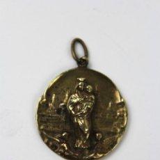 Antigüedades: M- 616. MEDALLA DE LA VIRGEN DEL PILAR EN METAL DORADO.. Lote 57317913