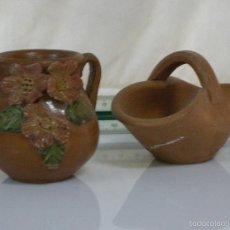 Antigüedades: BONITAS PIEZAS ARTESANAS DE CERAMICA. Lote 57318201