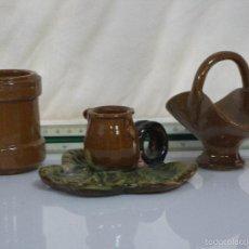 Antigüedades: BONITAS 3 PIEZAS ARTESANAS DE CERAMICA. Lote 57318212
