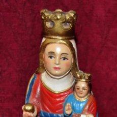 Antigüedades: BELLA IMAGEN DE LA MARE DE DÉU DEL COLL (OSOR, GIRONA) EN ESTUCO POLICROMADO. Lote 57321818
