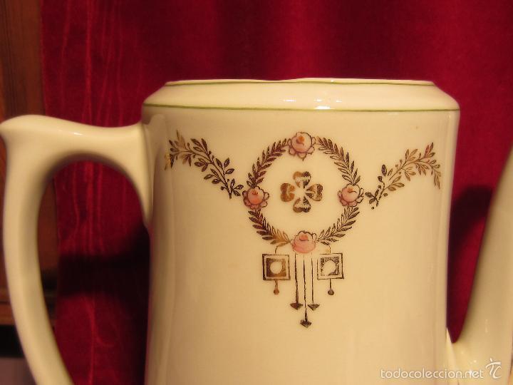 Antigüedades: cafetera o tetera porcelana modernista - Foto 2 - 57323892
