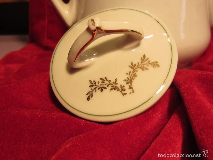 Antigüedades: cafetera o tetera porcelana modernista - Foto 3 - 57323892