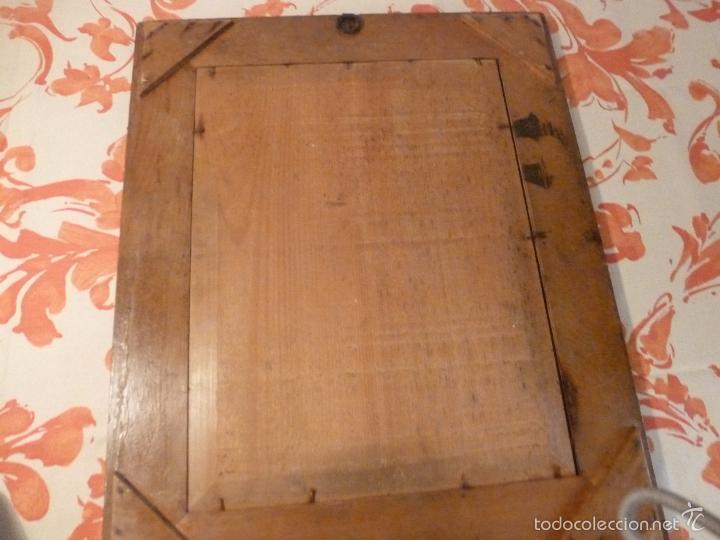 Antigüedades: marco de madera con espejo antiguo - Foto 2 - 57337583