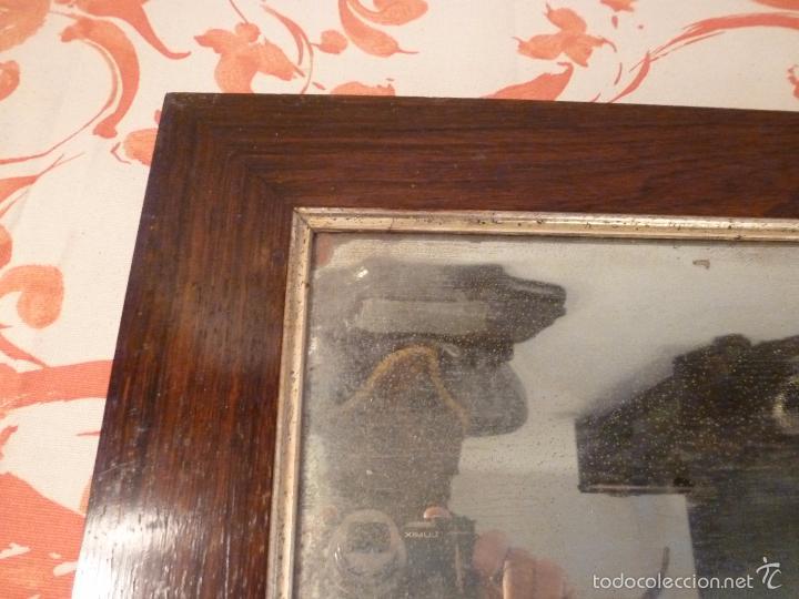 Antigüedades: marco de madera con espejo antiguo - Foto 4 - 57337583