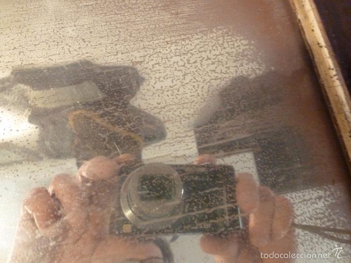 Antigüedades: marco de madera con espejo antiguo - Foto 5 - 57337583