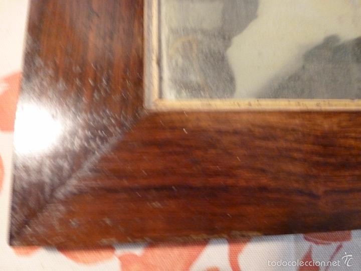 Antigüedades: marco de madera con espejo antiguo - Foto 6 - 57337583