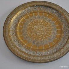 Antigüedades: PLATO DE METAL 24,7 CM DIAMETRO.. Lote 57337715
