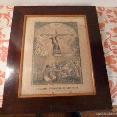 Antigüedades: LAMINA RELIGIOSA LA SANGRE PRECIOSISIMA DE JESUCRISTO. Lote 57337723