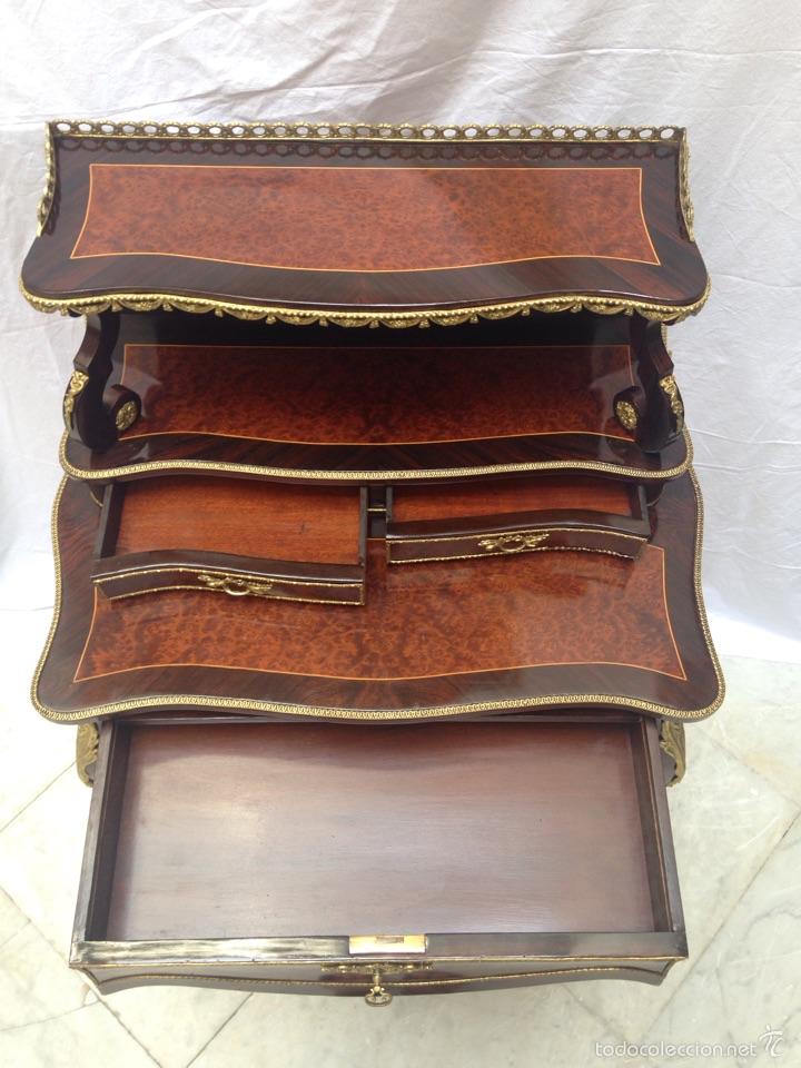 Antigüedades: Escritorio Luis XV de madera palosanto y raíz de ciprés - Foto 5 - 57346133