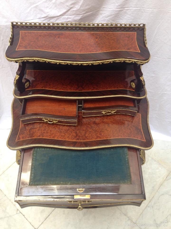 Antigüedades: Escritorio Luis XV de madera palosanto y raíz de ciprés - Foto 6 - 57346133