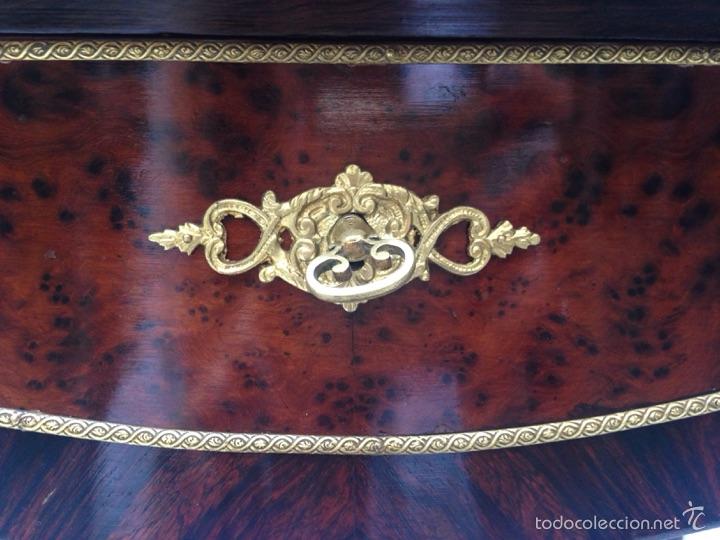 Antigüedades: Escritorio Luis XV de madera palosanto y raíz de ciprés - Foto 8 - 57346133