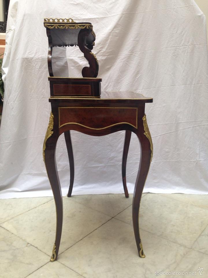 Antigüedades: Escritorio Luis XV de madera palosanto y raíz de ciprés - Foto 10 - 57346133