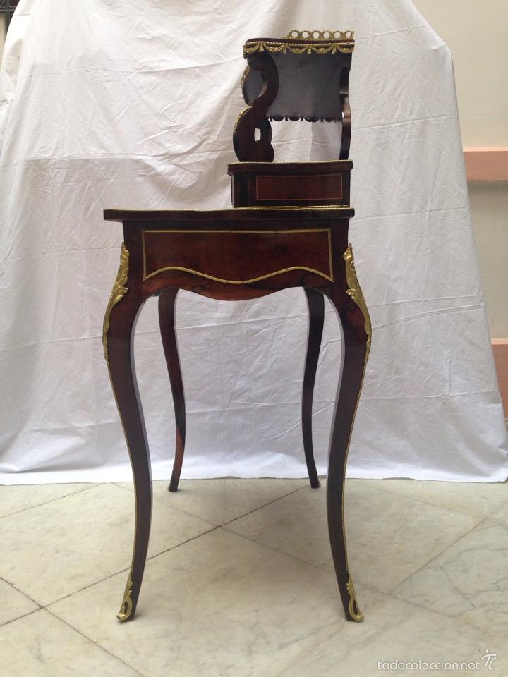 Antigüedades: Escritorio Luis XV de madera palosanto y raíz de ciprés - Foto 11 - 57346133