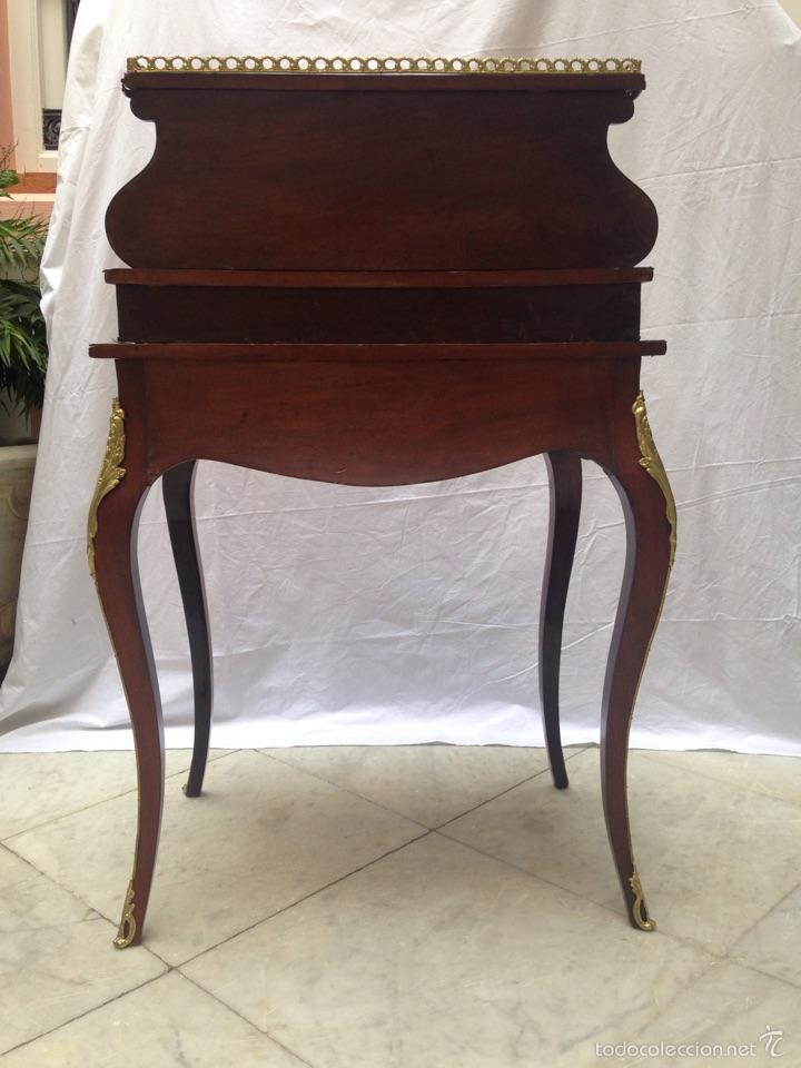 Antigüedades: Escritorio Luis XV de madera palosanto y raíz de ciprés - Foto 12 - 57346133