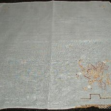 Antigüedades: PAÑUELO DE HILO BORDADO. Lote 57352628